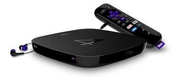Черная Smart-TV приставка